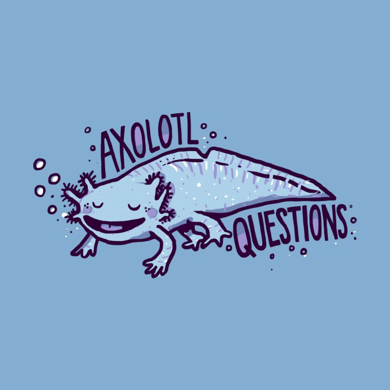 Axolotl Questions Men's Triblend T-Shirt by Thomas Orrow
