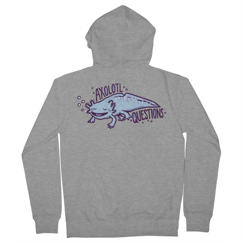 Axolotl Questions Men's Zip-Up Hoody by Thomas Orrow