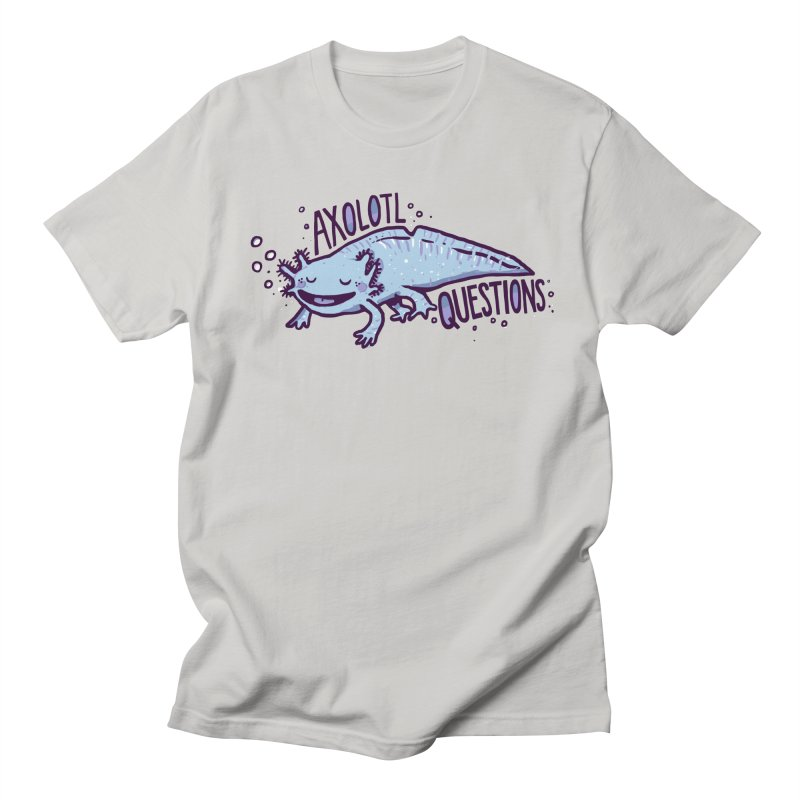 Axolotl Questions Men's T-Shirt by Thomas Orrow