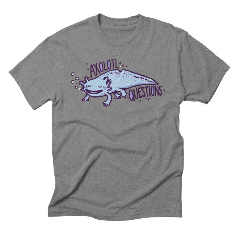 Axolotl Questions Men's Triblend T-Shirt by Thomas Orrow
