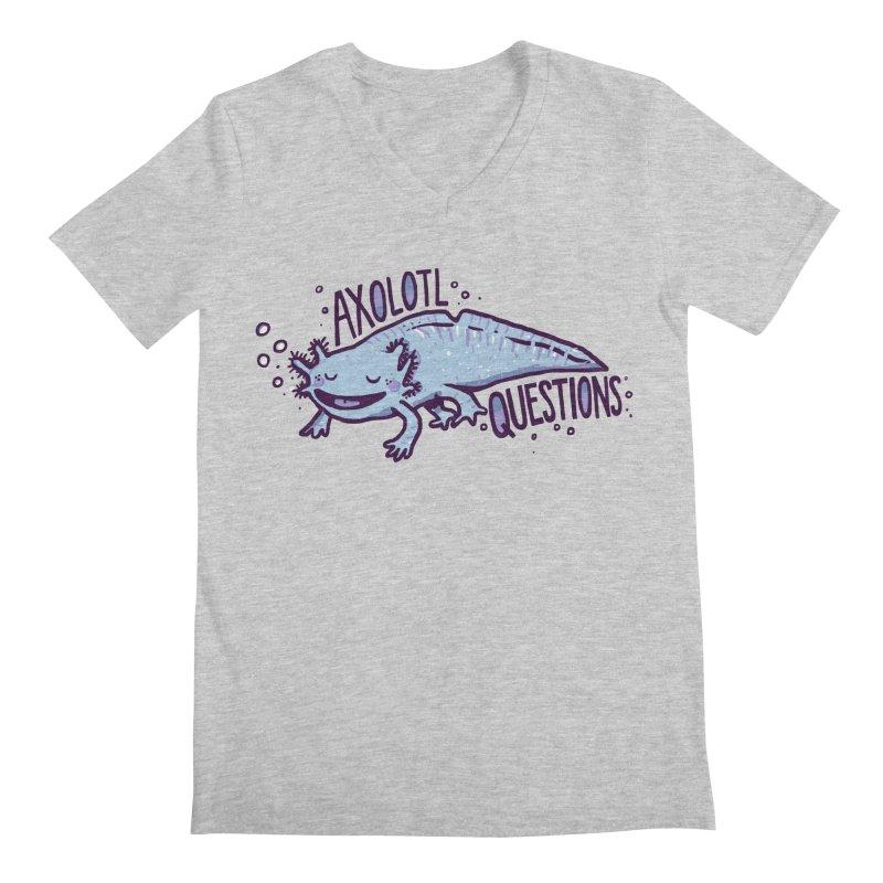 Axolotl Questions Men's Regular V-Neck by Thomas Orrow