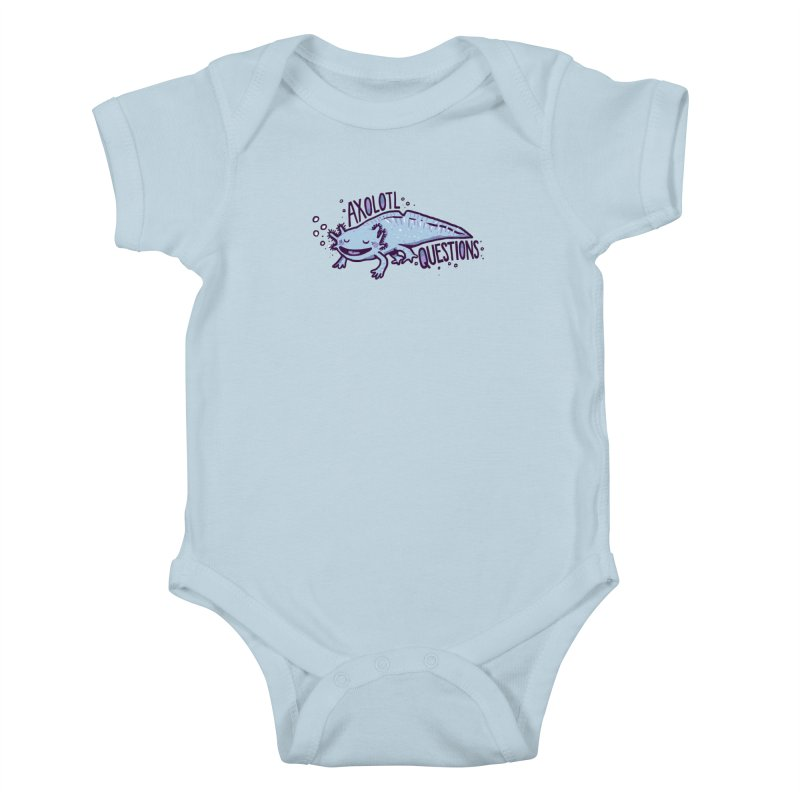 Axolotl Questions Kids Baby Bodysuit by Thomas Orrow