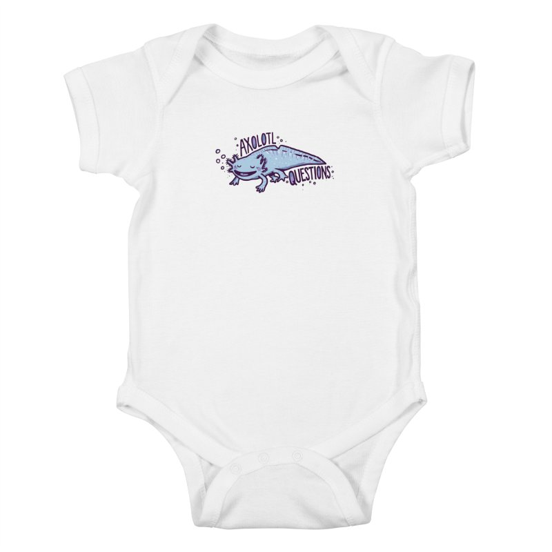 Axolotl Questions Kids Baby Bodysuit by Thomas Orrow