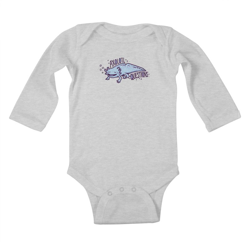 Axolotl Questions Kids Baby Longsleeve Bodysuit by Thomas Orrow