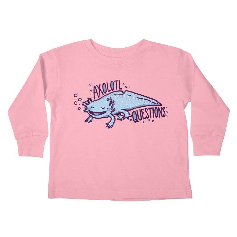 Axolotl Questions Kids Toddler Longsleeve T-Shirt by Thomas Orrow