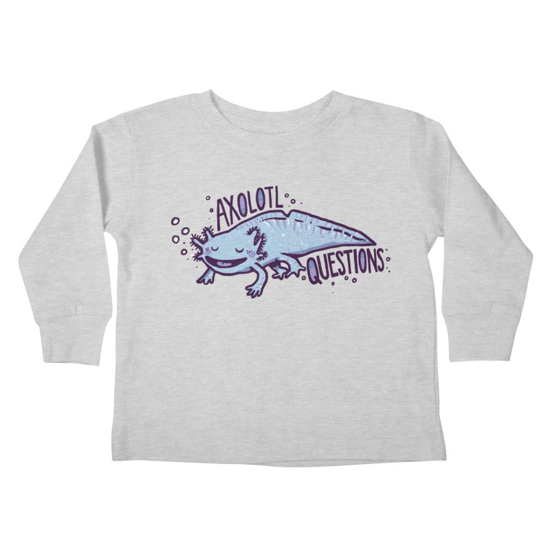 Axolotl Questions Kids Toddler Longsleeve T-Shirt by Thomas Orrow