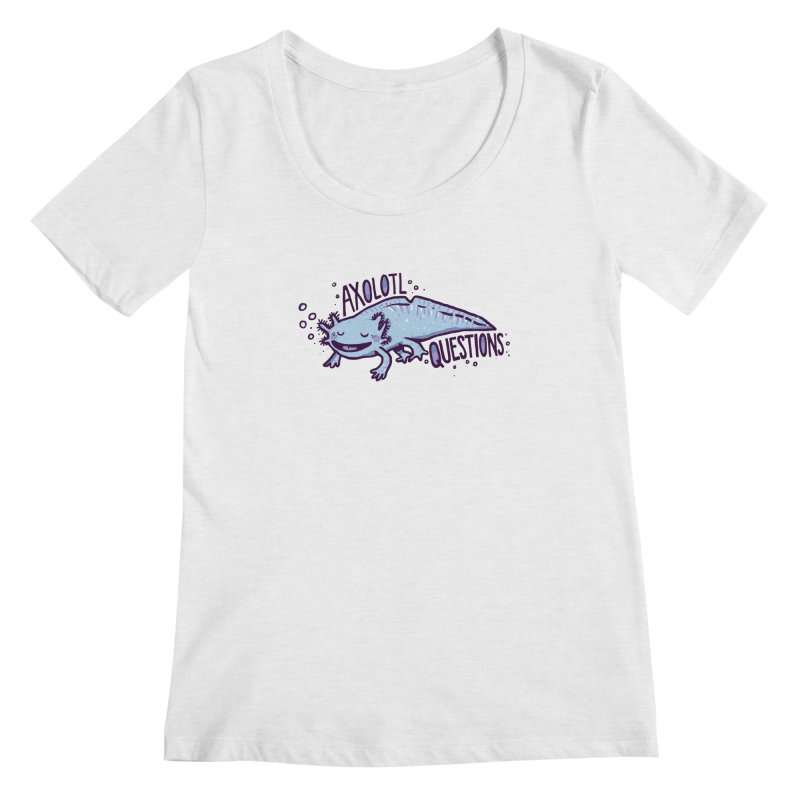 Axolotl Questions Women's Scoopneck by Thomas Orrow