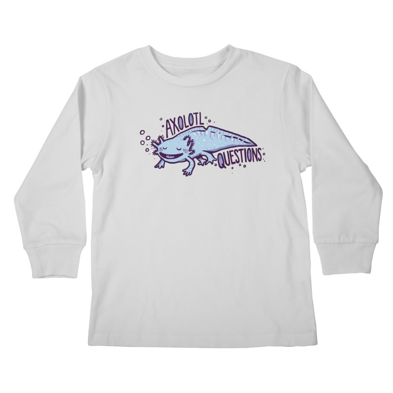 Axolotl Questions Kids Longsleeve T-Shirt by Thomas Orrow