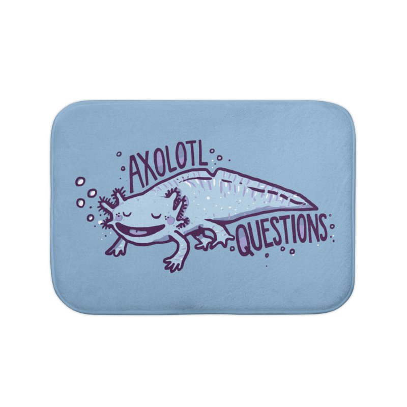 Axolotl Questions Home Bath Mat by Thomas Orrow