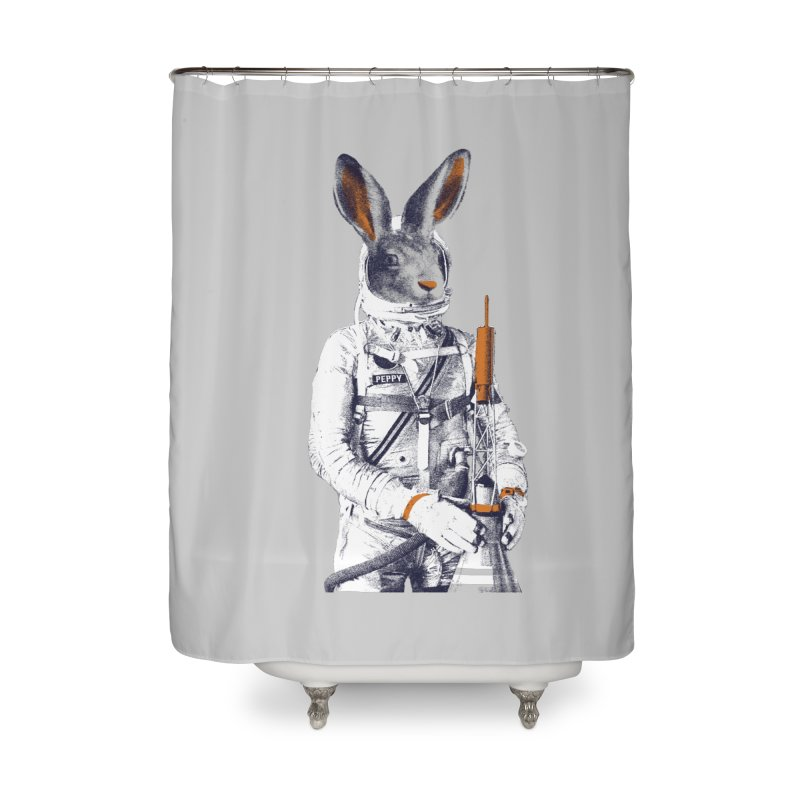 Peppy Home Shower Curtain by Thomas Orrow