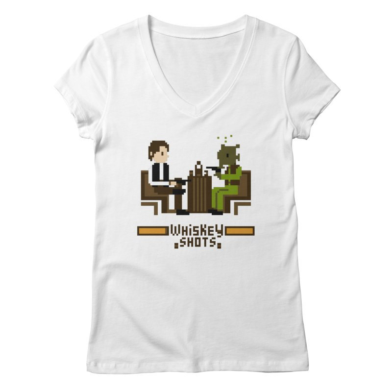 Whiskey Shots Women's V-Neck by Thomas Orrow