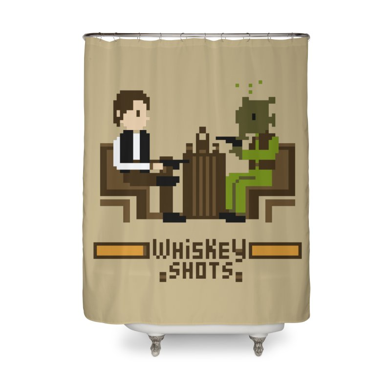 Whiskey Shots Home Shower Curtain by Thomas Orrow