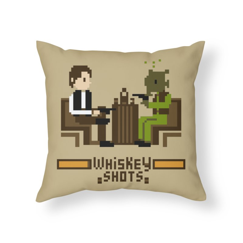 Whiskey Shots Home Throw Pillow by Thomas Orrow