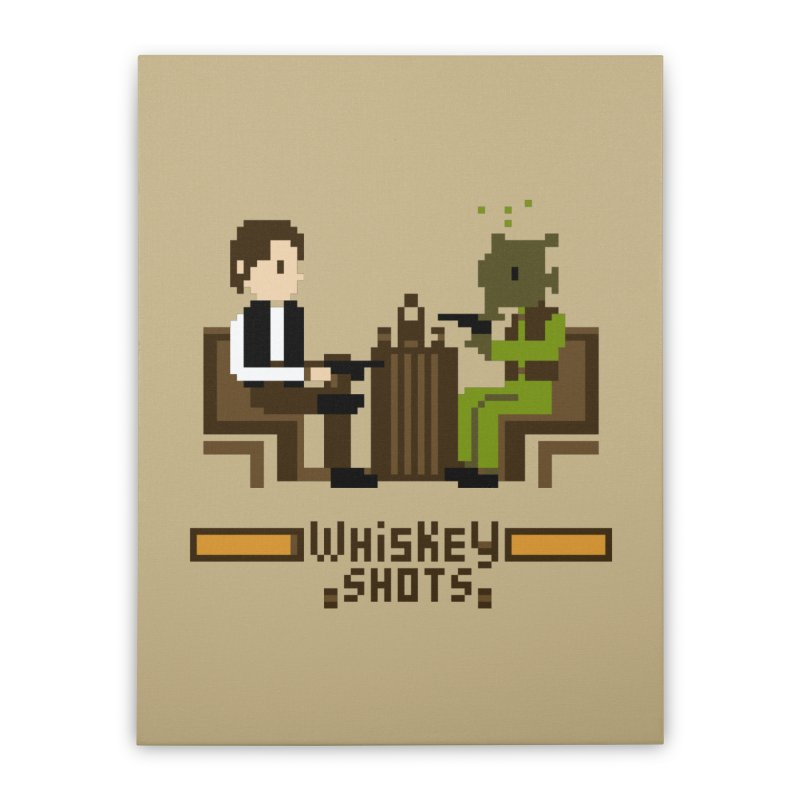 Whiskey Shots Home Stretched Canvas by Thomas Orrow