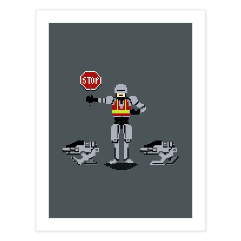 Traffic Cop Home Fine Art Print by Thomas Orrow