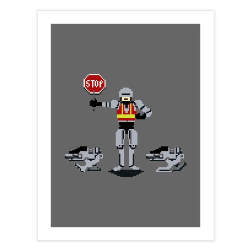 Traffic Safety Officer Home Fine Art Print by Thomas Orrow