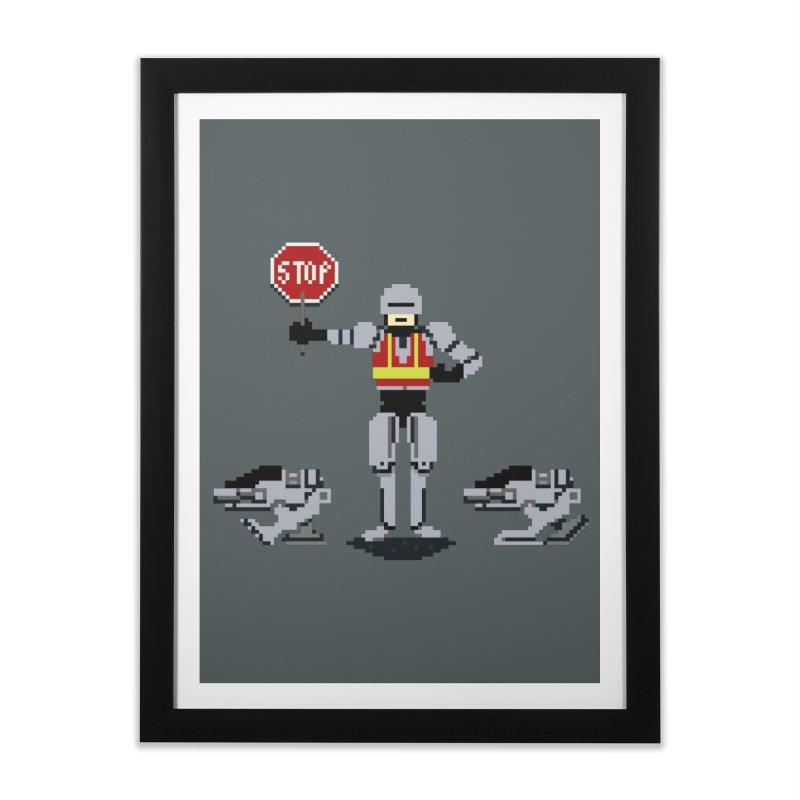 Traffic Cop Home Framed Fine Art Print by Thomas Orrow