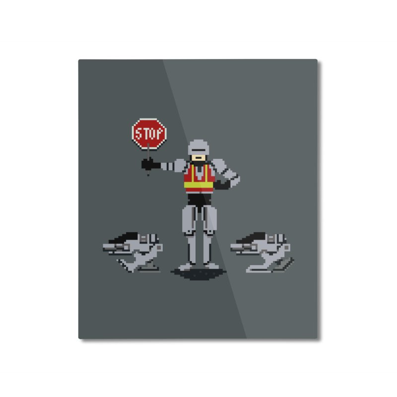 Traffic Cop Home Mounted Aluminum Print by Thomas Orrow