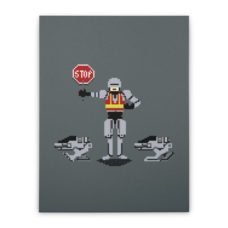 Traffic Cop Home Stretched Canvas by Thomas Orrow