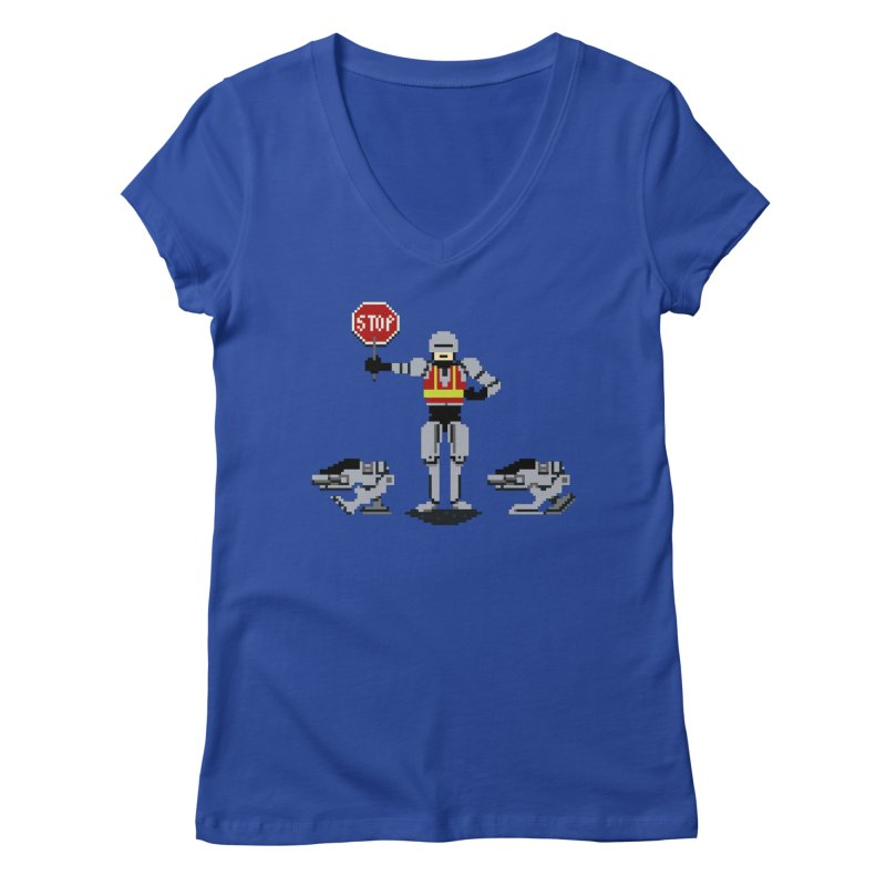 Traffic Safety Officer Women's V-Neck by Thomas Orrow