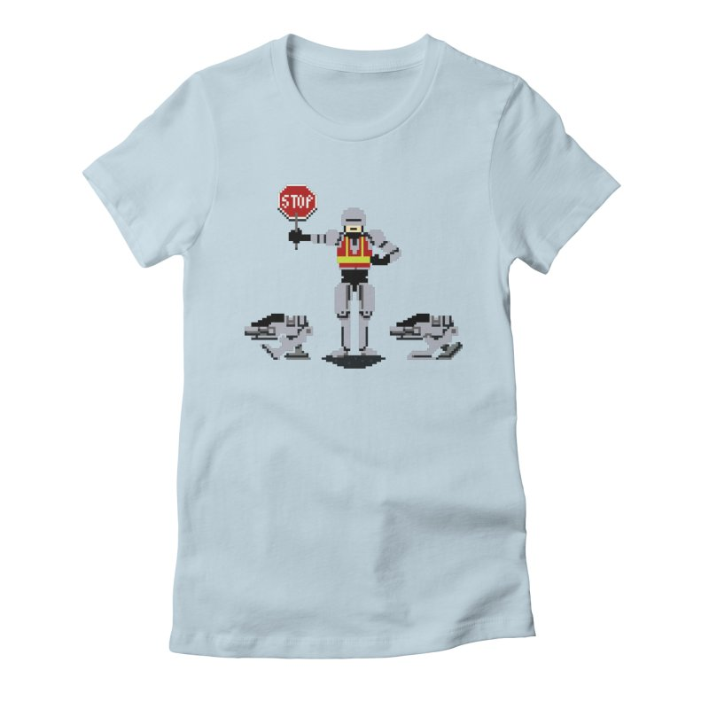 Traffic Cop Women's Fitted T-Shirt by Thomas Orrow