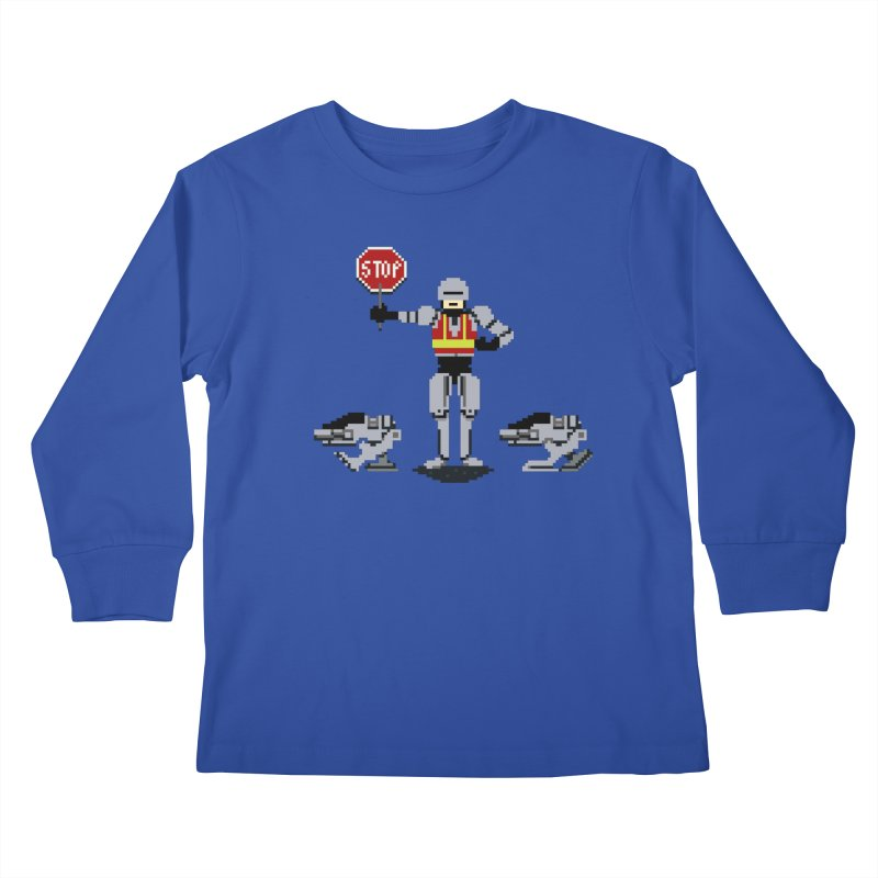 Traffic Cop Kids Longsleeve T-Shirt by Thomas Orrow