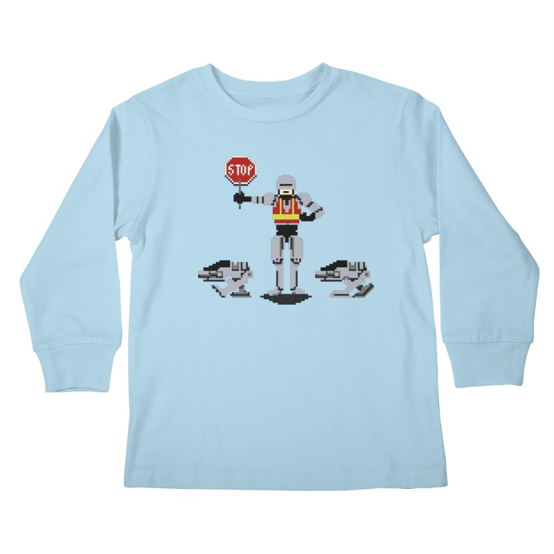 Traffic Safety Officer Kids Longsleeve T-Shirt by Thomas Orrow