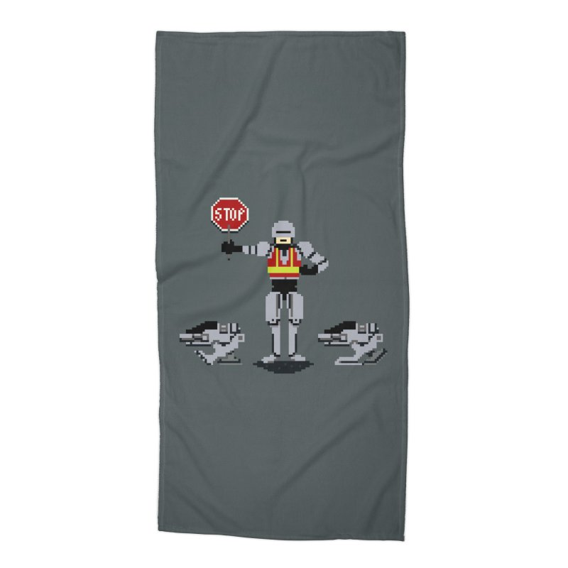 Traffic Cop Accessories Beach Towel by Thomas Orrow