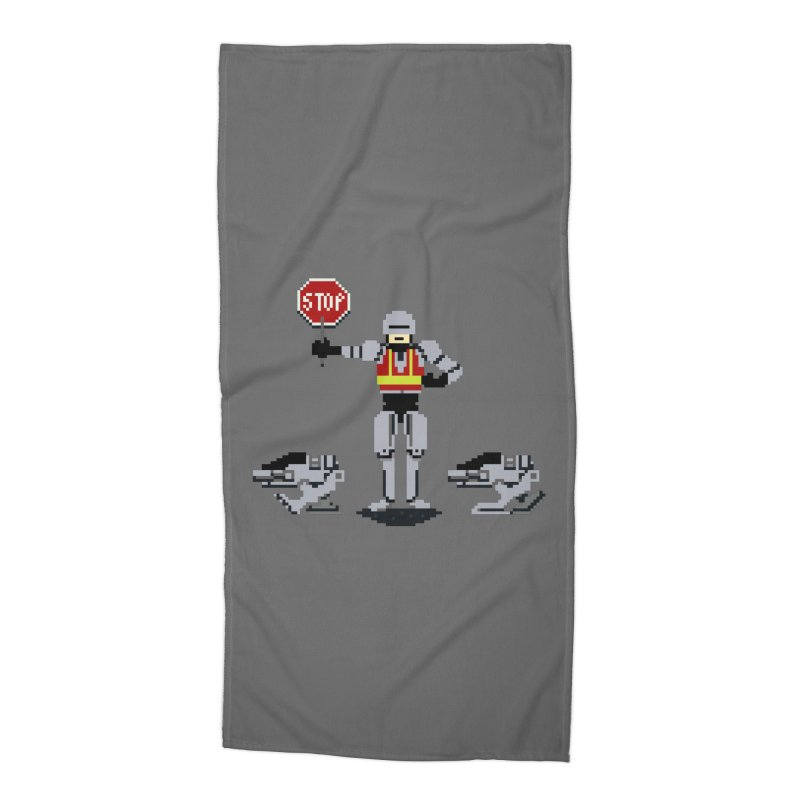 Traffic Safety Officer Accessories Beach Towel by Thomas Orrow