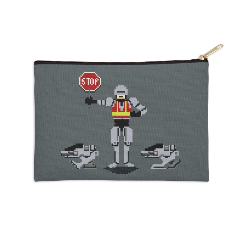 Traffic Cop Accessories Zip Pouch by Thomas Orrow