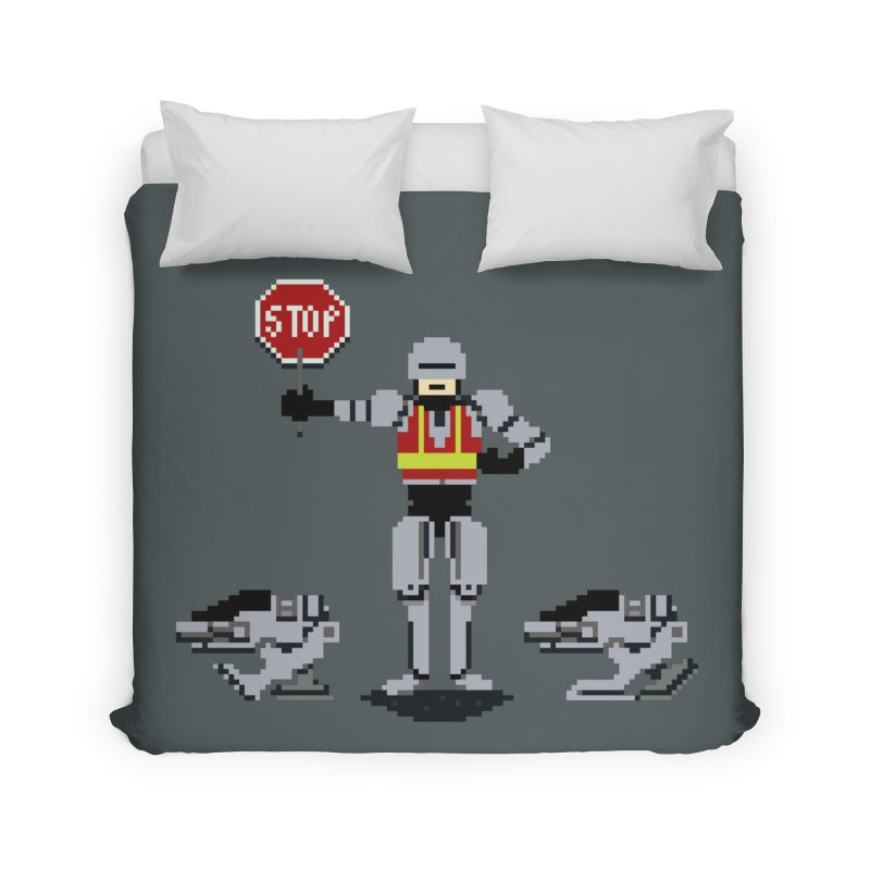 Traffic Cop Home Duvet by Thomas Orrow