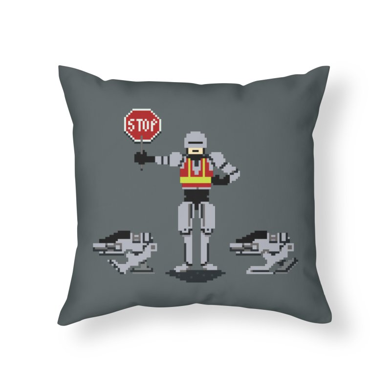 Traffic Cop Home Throw Pillow by Thomas Orrow