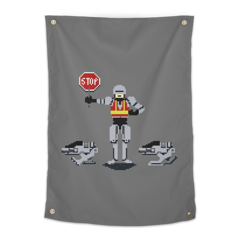 Traffic Safety Officer Home Tapestry by Thomas Orrow