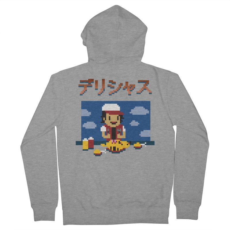 Gotta Eat 'Em All Men's French Terry Zip-Up Hoody by Thomas Orrow