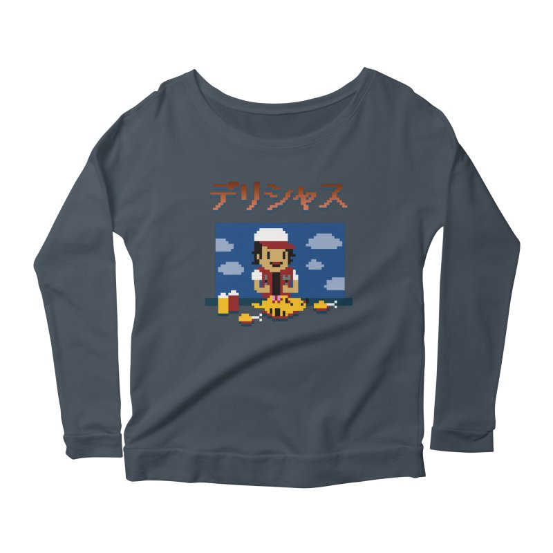 Gotta Eat 'Em All Women's Longsleeve Scoopneck  by Thomas Orrow