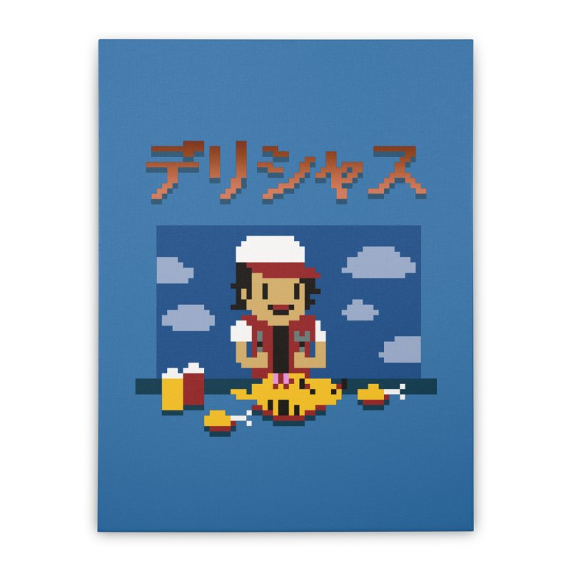 Gotta Eat 'Em All Home Stretched Canvas by Thomas Orrow