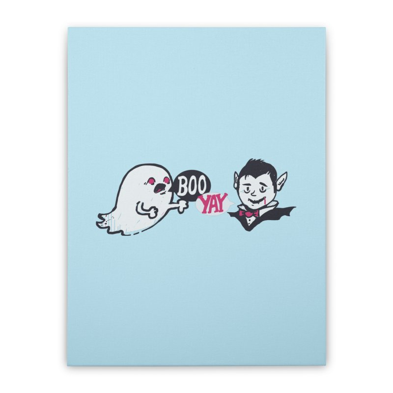 Boo and Yay Home Stretched Canvas by Thomas Orrow
