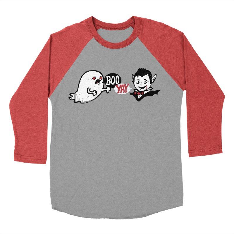 Boo and Yay Women's Baseball Triblend T-Shirt by Thomas Orrow