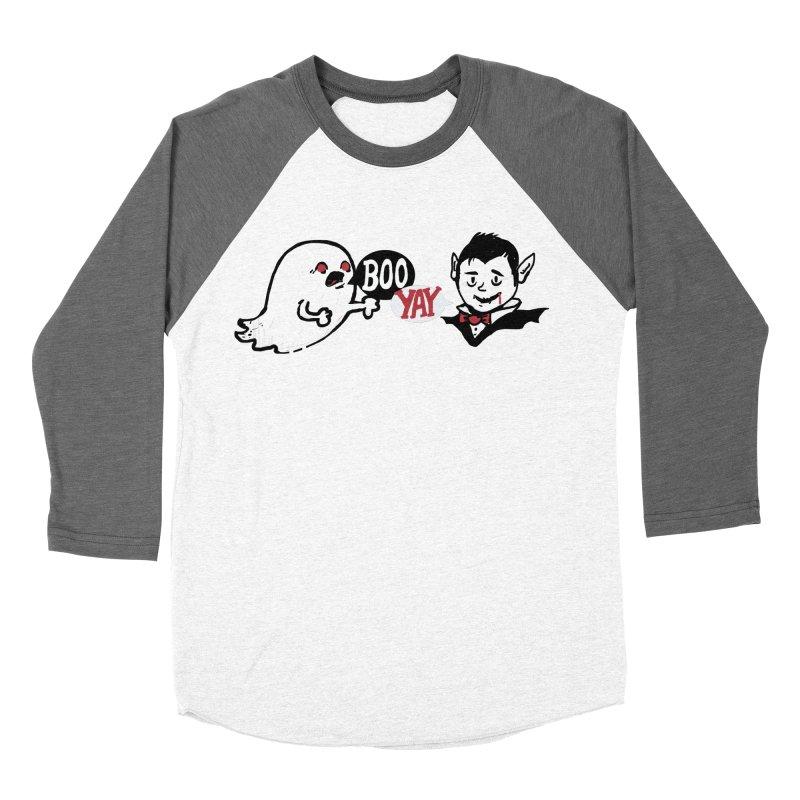 Boo and Yay Men's Baseball Triblend T-Shirt by Thomas Orrow