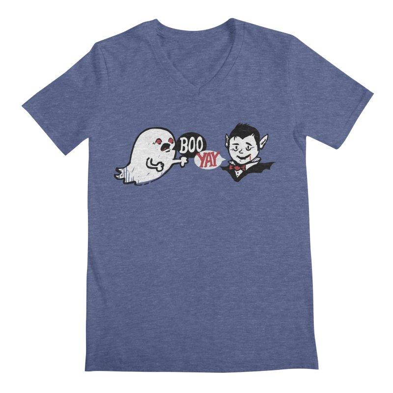 Boo and Yay Men's V-Neck by Thomas Orrow
