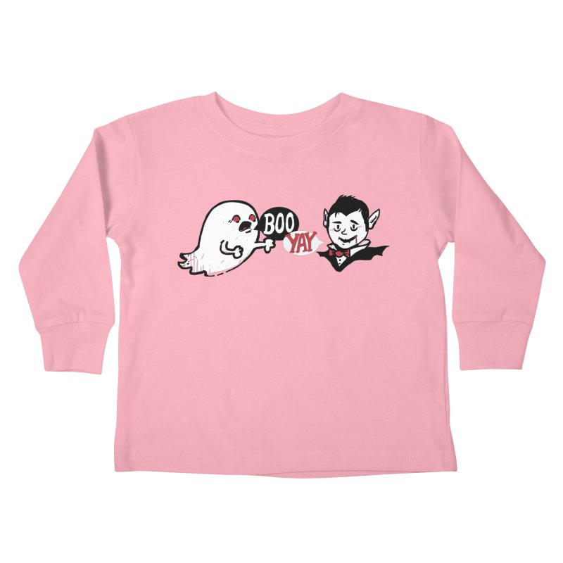 Boo and Yay Kids Toddler Longsleeve T-Shirt by Thomas Orrow