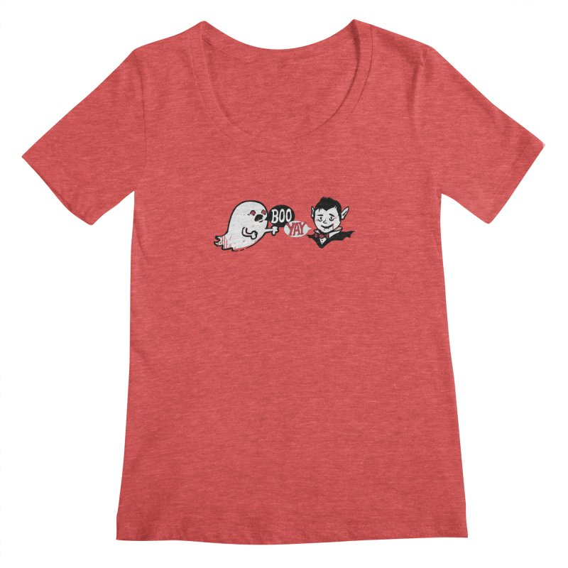 Boo and Yay Women's Scoopneck by Thomas Orrow