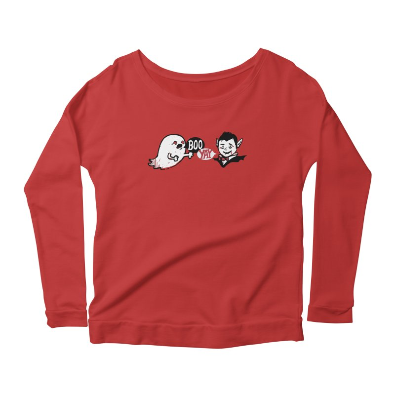 Boo and Yay Women's Scoop Neck Longsleeve T-Shirt by Thomas Orrow