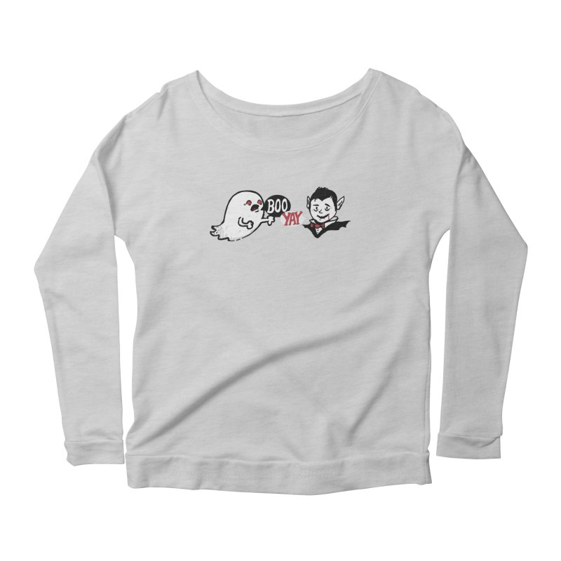 Boo and Yay Women's Longsleeve Scoopneck  by Thomas Orrow
