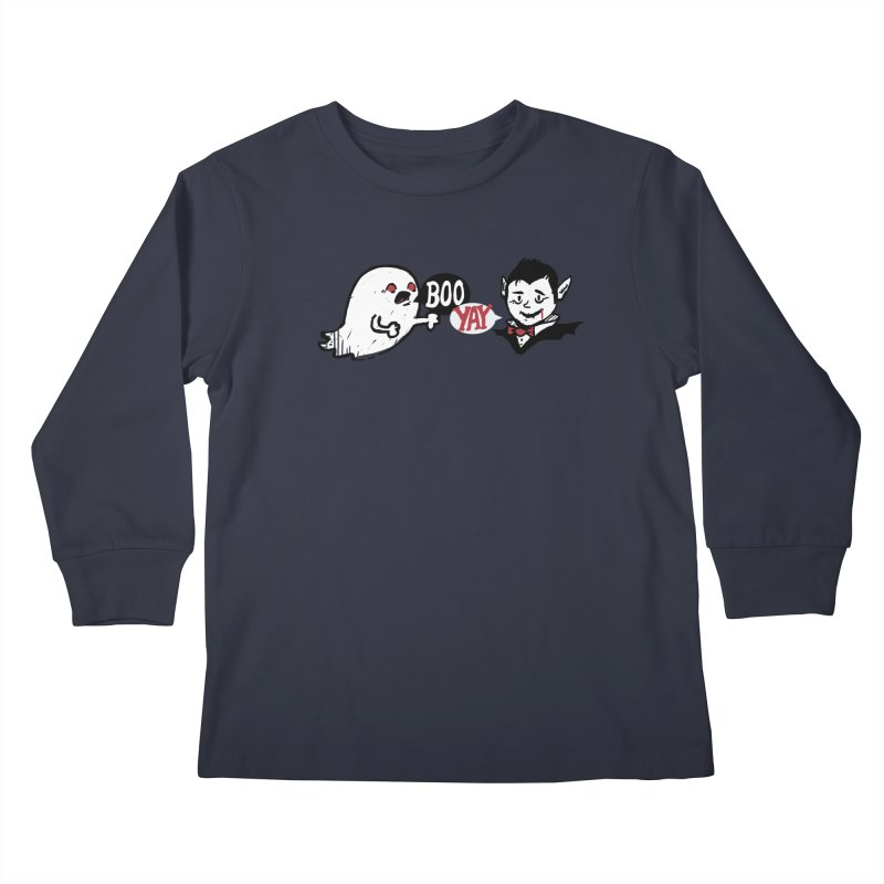 Boo and Yay Kids Longsleeve T-Shirt by Thomas Orrow