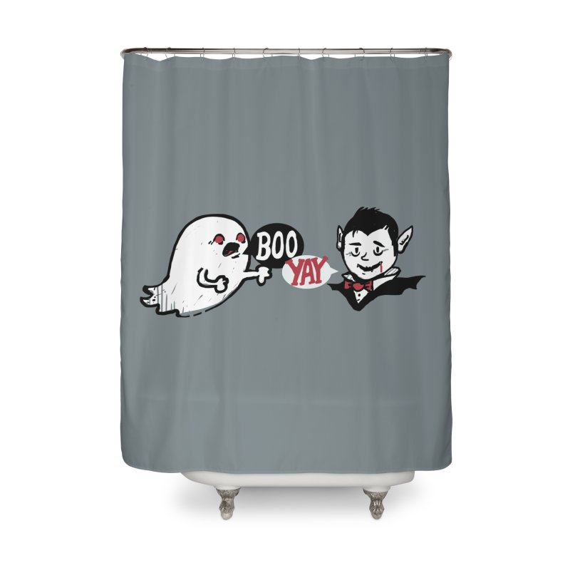 Boo and Yay Home Shower Curtain by Thomas Orrow