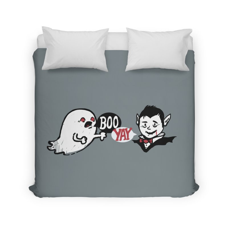 Boo and Yay Home Duvet by Thomas Orrow