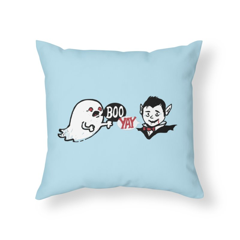 Boo and Yay Home Throw Pillow by Thomas Orrow