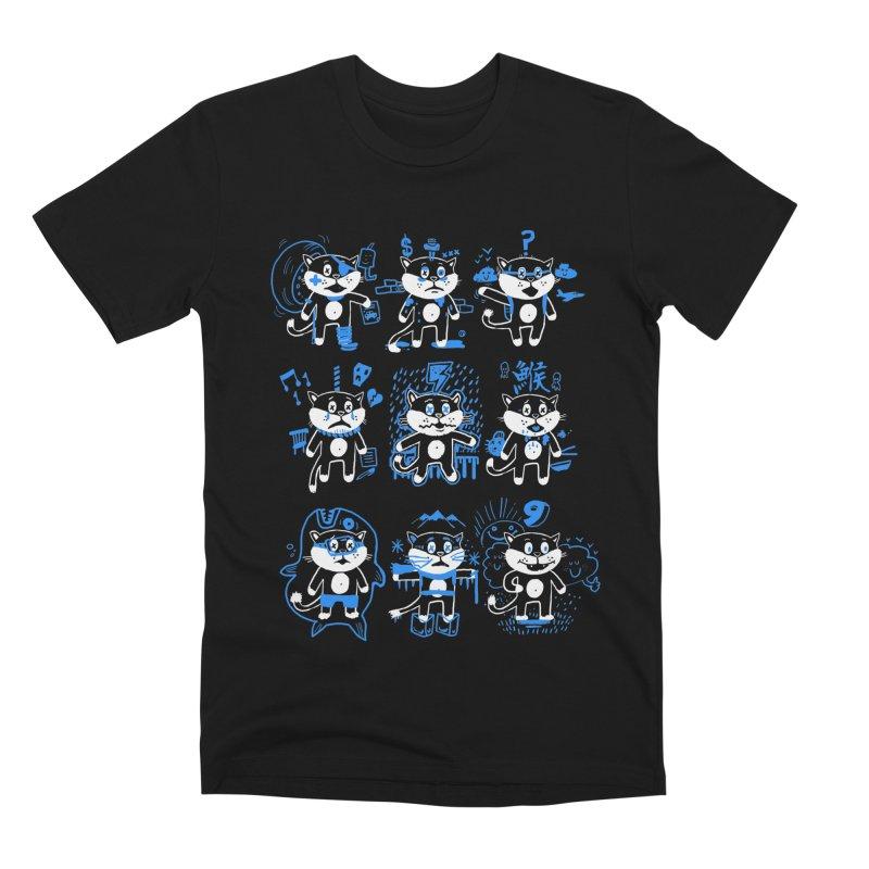 Nine Lives Men's Premium T-Shirt by Thomas Orrow
