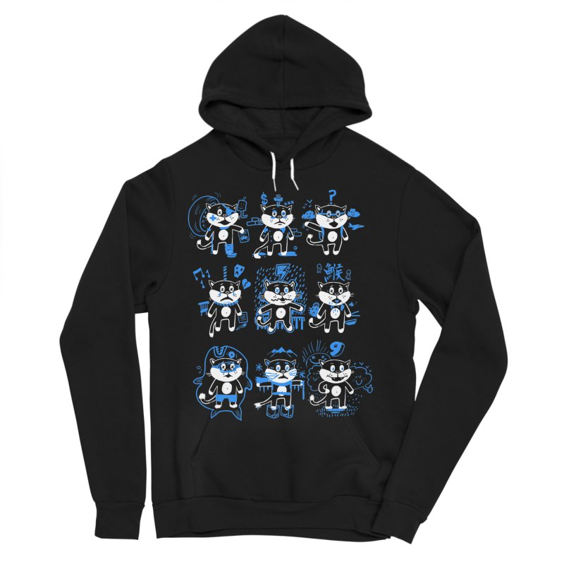 Nine Lives Men's Sponge Fleece Pullover Hoody by Thomas Orrow